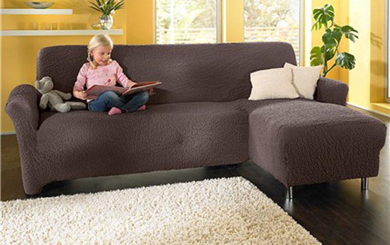 aktuelle stretch husse f r ein eck sofa mit linksseitiger ottomane neu ebay. Black Bedroom Furniture Sets. Home Design Ideas